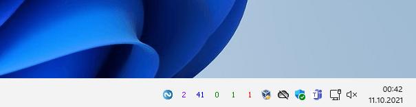 Argus Monitor Tray Icons im Windows 11 Infobereich