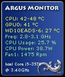 Argus Monitor Sidebar Gadget