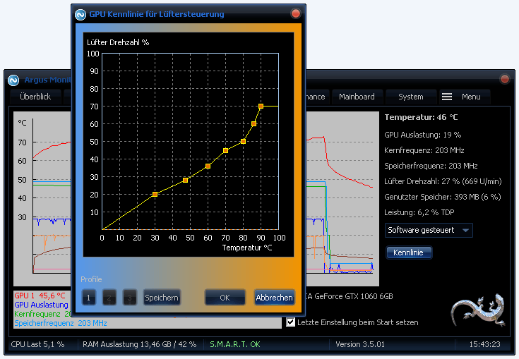 Argus Monitor - Kennliniengesteuerte Regelung der Grafikkartenlüfter